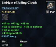 Emblem of Fading Clouds
