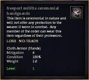 Freeport militia ceremonial handguards