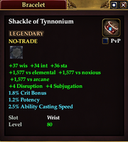 Shackle of Tynnonium (Priest)