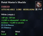 Portal Master's Shackle