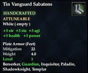 Tin Vanguard Sabatons
