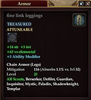 Fine link leggings