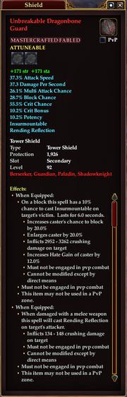Unbreakable Dragonbone Guard