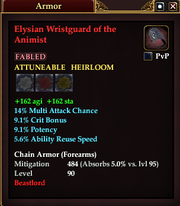 Elysian Wristguard of the Animist