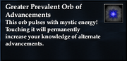 Greater Prevalent Orb of Advancements