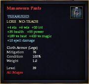 Manasworn Pants