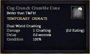 Cog Crunch Crumble Cone