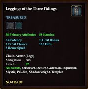 Leggings of the Three Tidings