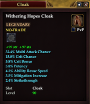Withering Hopes Cloak