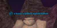 A lesser earthen manifestation