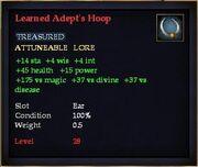 Learned Adept's Hoop