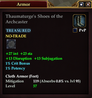 Thaumaturge's Shoes of the Archcaster