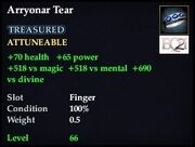 Arryonar Tear