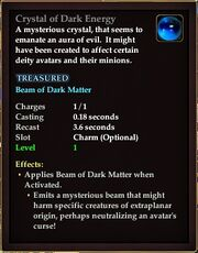 Crystal of Dark Energy