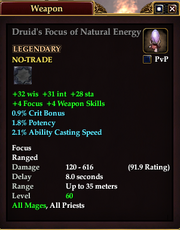 Druid's Focus of Natural Energy