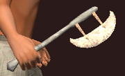 Imbued Iron Hand Axe (Equipped)