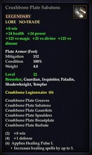 Crushbone Plate Sabatons