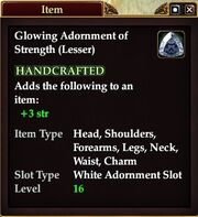 Glowing Adornment of Strength (Lesser)