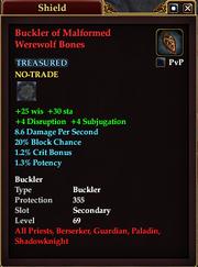 Buckler of Malformed Werewolf Bones