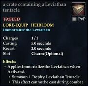 A crate containing a Leviathan tentacle