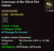 Armwraps of the Silent Fist Initiate