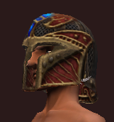 Vesspyr Scout's Red Helm (Equipped)