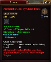 Primalist's Ghostly Chain Boots