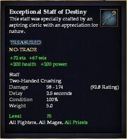 Exceptional Staff of Destiny