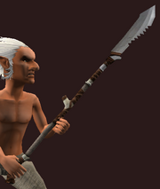 Jagged Spear of Butchering (Equipped)
