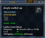 Deeply scuffed cap