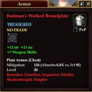 Footman's Worked Breastplate
