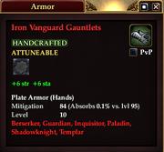 Iron Vanguard Gauntlets