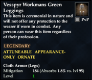 Vesspyr Workmans Green Leggings