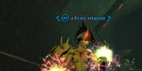 A bixie retainer