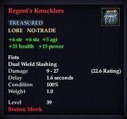 Regent's Knucklers