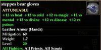 Steppes bear gloves