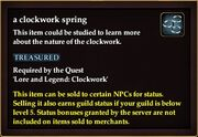 A clockwork spring