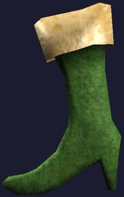 Green hanging boot (Visible)