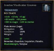 Irontoe Vindicator Greaves