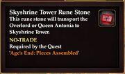 Skyshrine Tower Rune Stone
