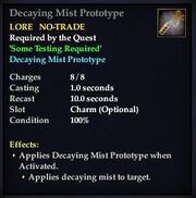 Decaying Mist Prototype