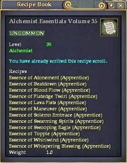 Alchemist Essentials Volume 35