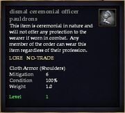 Dismal ceremonial officer pauldrons