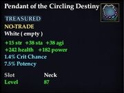 Pendant of the Circling Destiny