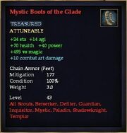 Mystic Boots of the Glade