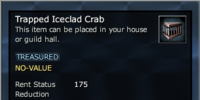 Trapped Iceclad Crab
