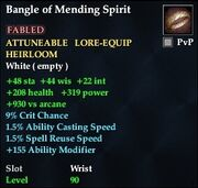 Bangle of Mending Spirit