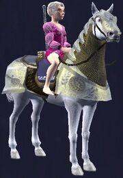 Blue-saddled Dervish Destrier horse