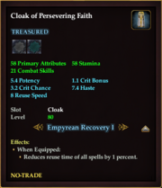 Cloak of Persevering Faith
