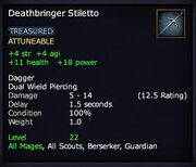 Deathbringer Stiletto